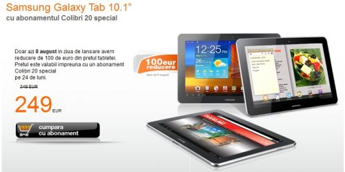 Prețul lui Samsung Galaxy Tab 10.1 la Orange!
