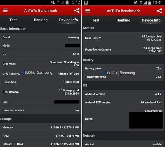 Samsung Galaxy S5 Își face apariția În testul benchmark AnTuTu