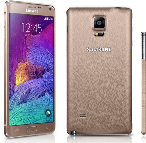Samsung Galaxy Note 4 disponibil acum pe auriu și roz la eMAG
