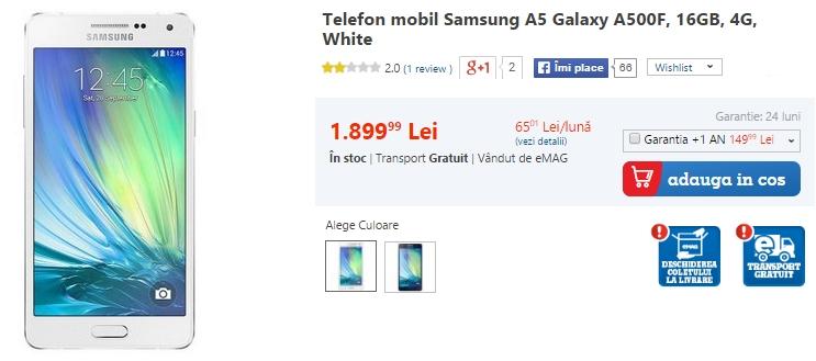 Samsung Galaxy E5 Dual-SIM debutează În stocurile QuickMobile.ro la prețul de 1.399 lei