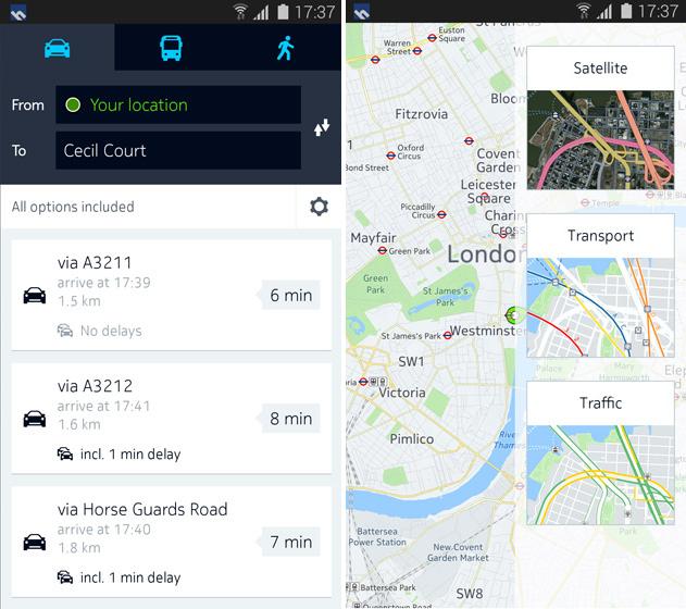 Nokia HERE Maps ajunge pe Android, În exclusivitate pe terminalele Samsung Galaxy pentru Început