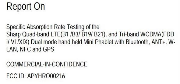 Sharp primește certificare din partea agenției americane FCC pentru un mini phablet