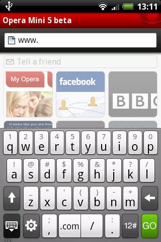 Opera Mini Acum si pe Android