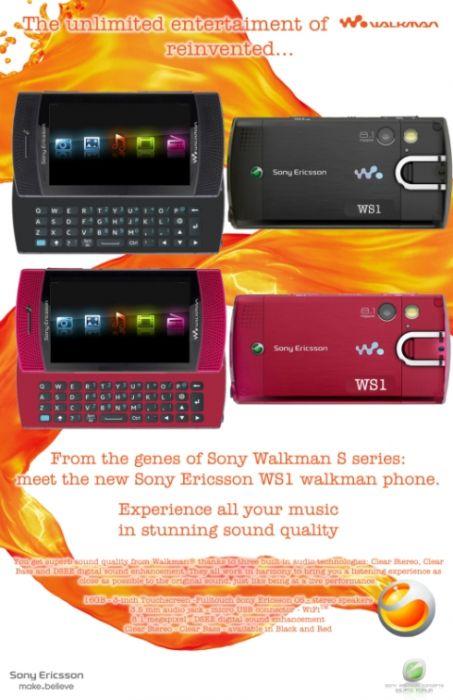 Sony Ericssom WX1 si WS1 Concept