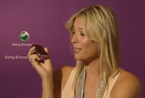 Sony Ericsson si Maria Sharapova anunta telefonul T707