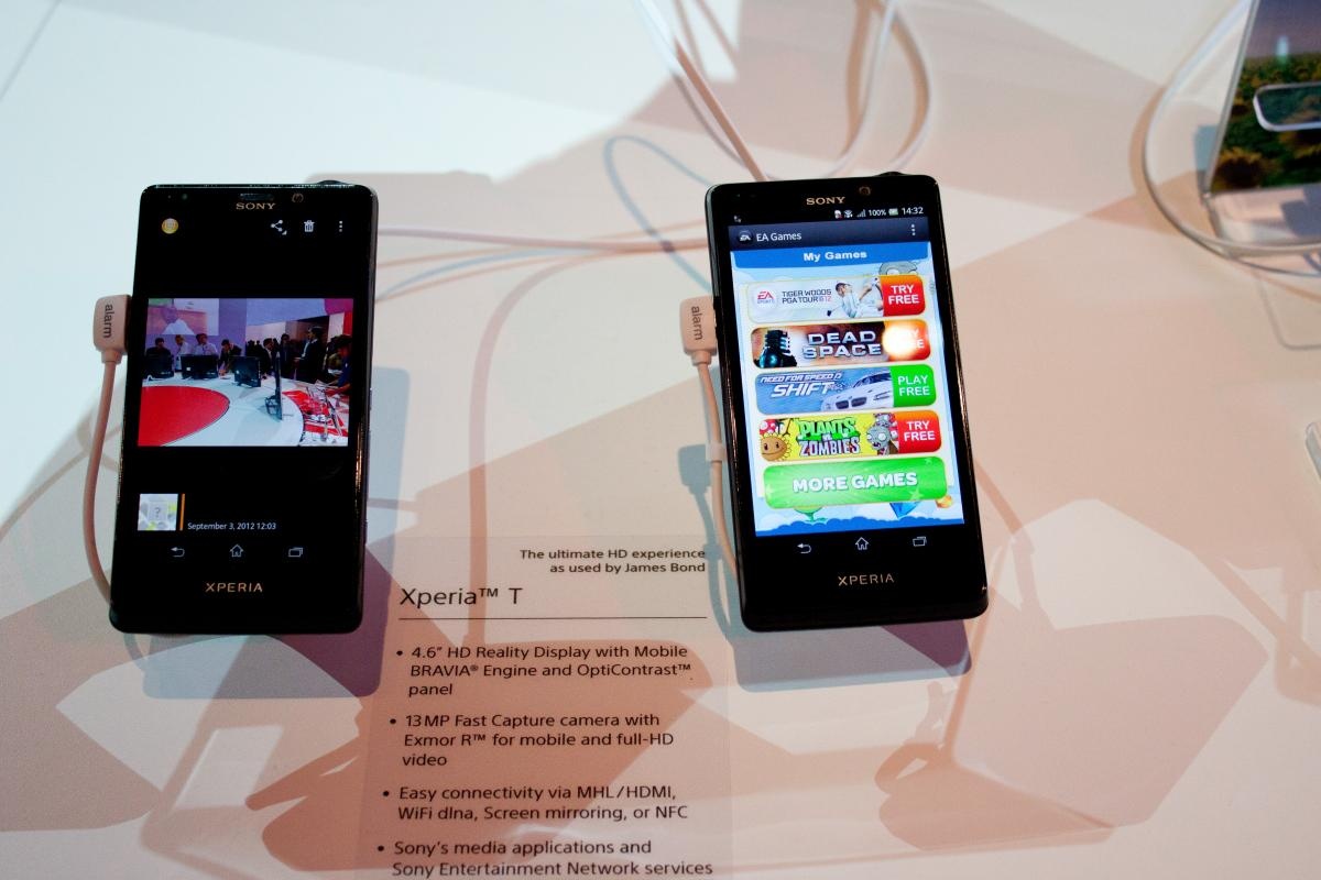 Sony Xperia T la IFA Berlin 2012 - galerie foto detaliată
