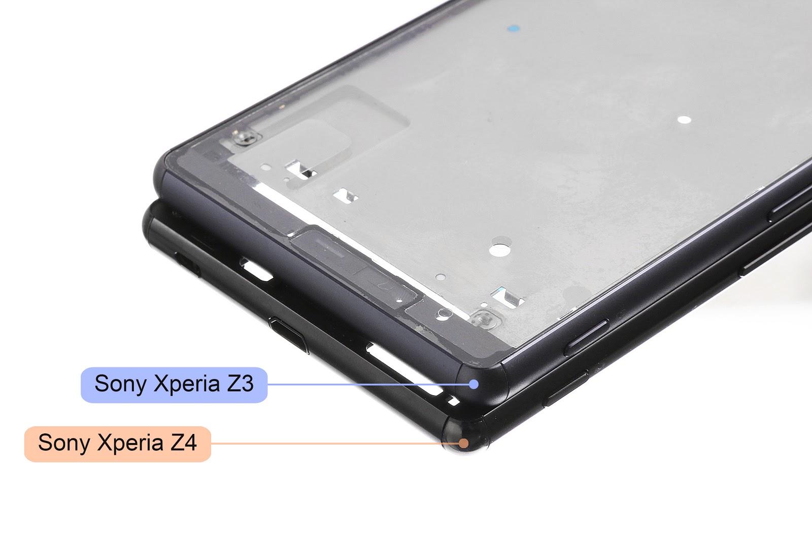 Noi imagini cu sasiul intern al lui Xperia Z4 par a indica un design mai subţire şi lipsa rezistenţei la apă