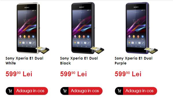 Sony Xperia E1 Dual disponibil de astăzi și În România prin intermediul evoMAG și Quickmobile!
