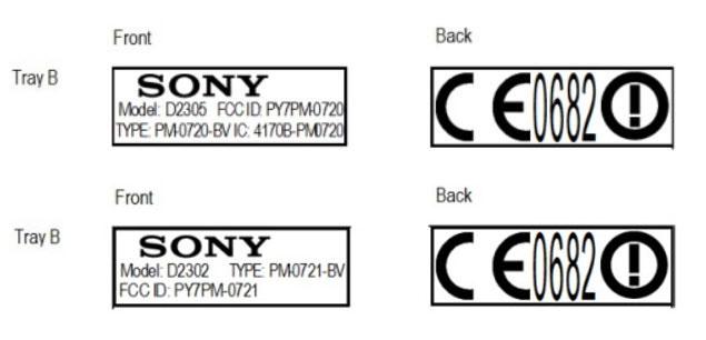 Sony Xperia E2 În vizită la FCC, În 2 versiuni diferite