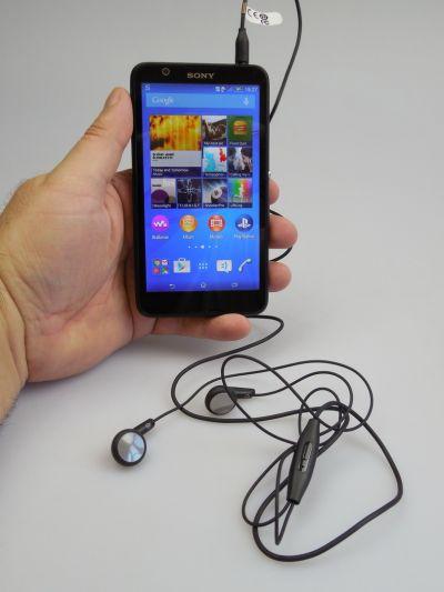 Sony Xperia E4 pe partea audio