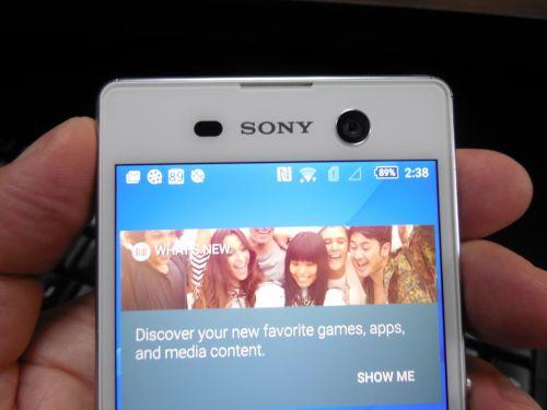 Camera frontala lui Sony Xperia M5