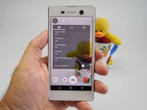 Aplicația camera de pe Sony Xperia M5