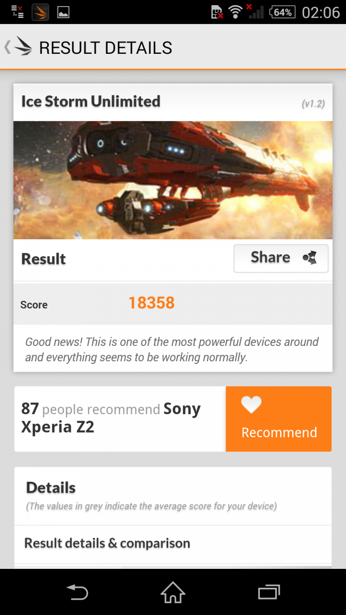 Benchmark 3D MARK Sony Xperia Z2