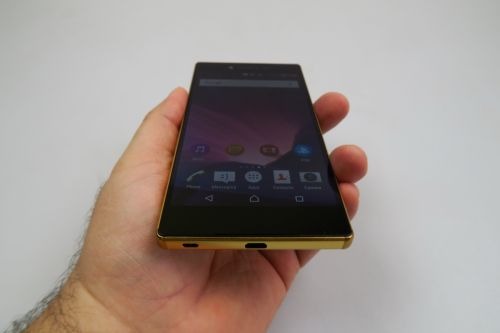 Sony Xperia Z5 Premium, unghi de vizualizare slab