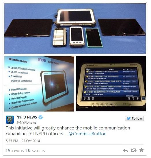 Poliţiştii din NYPD primesc tablete şi telefoane cu Windows pentru a lupta contra criminalităţii