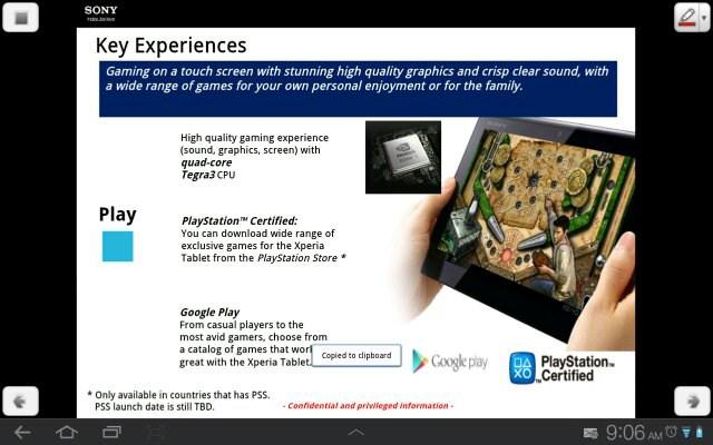 Primele informații legate de o tabletă Sony XPERIA