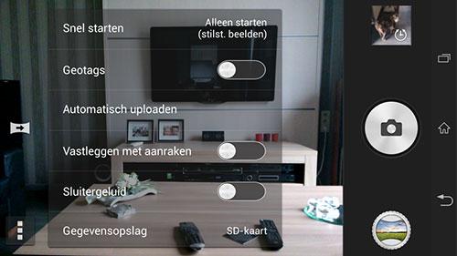 Interfața lui Sony i1 Honami deja portata pe Xperia Z, Împreună cu aplicația camerei