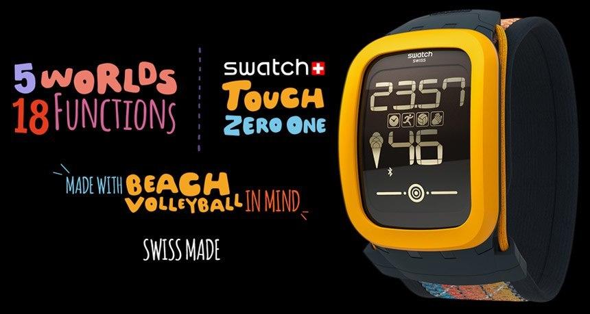 Swatch lansează smartwatchul Touch Zero One, un ceas pentru jucătorii de volei
