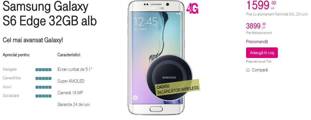 Samsung Galaxy S6 și S6 Edge ajung și în oferta operatorului Telekom România