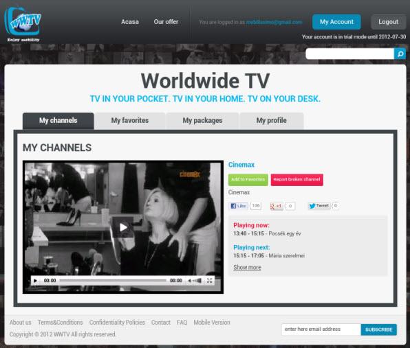 WWTV.ro - urmărește posturile TV preferate pe telefonul mobil și tabletă