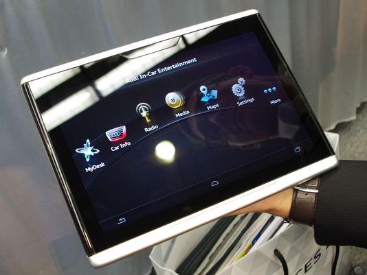 Audi anunţă o tabletă cu Android pentru automobilele sale
