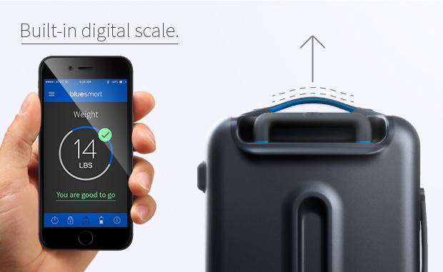 Bluesmart este un troller inteligent ce poate fi controlat prin intermediul unui smartphone
