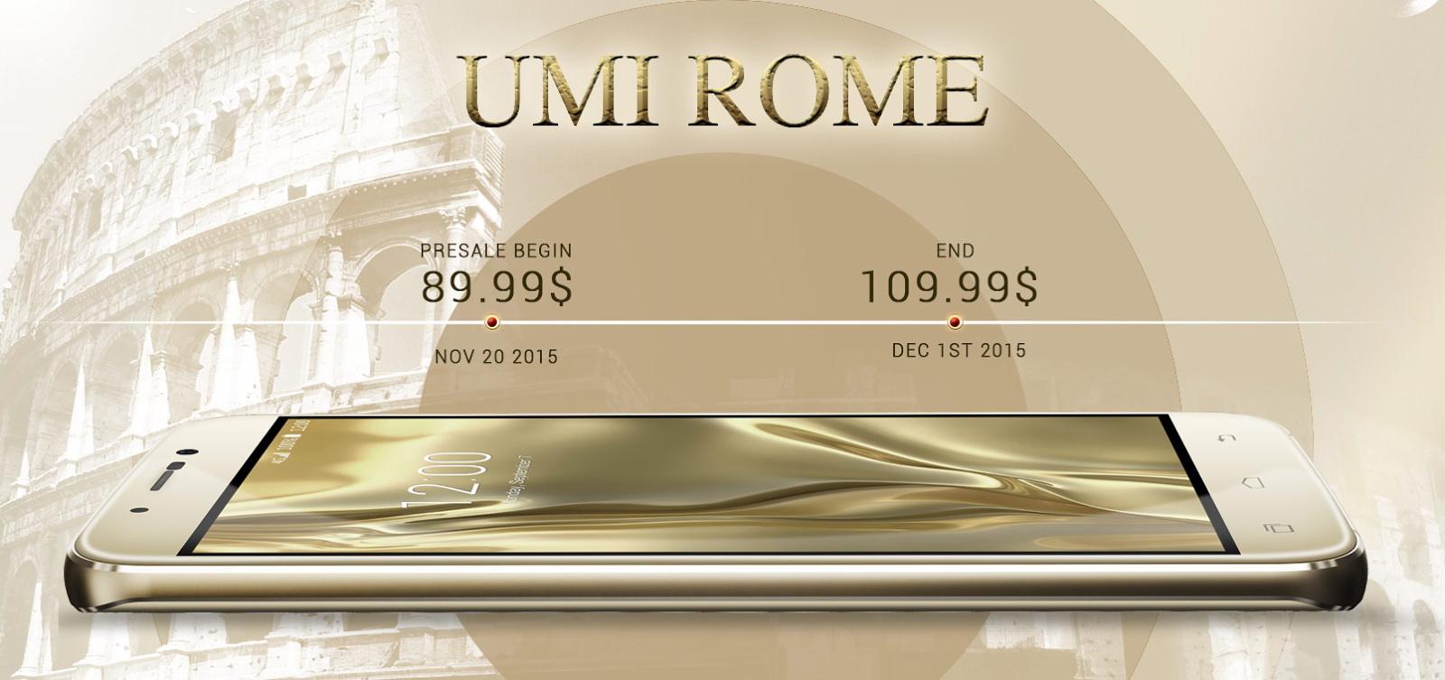 UMi Rome, phablet-ul cu 3 GB RAM și preț de 90 dolari, înregistrează 100.000 pre-comenzi