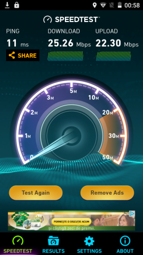 UTOK Q5 GT, speedtest