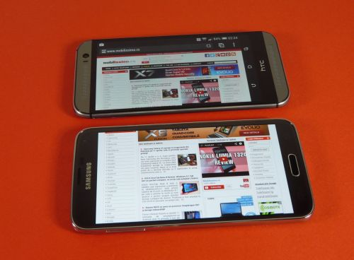 Samsung Galaxy S5 versus HTC One M8