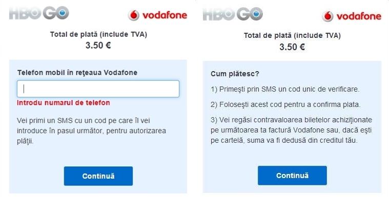Pret HBO GO prin Vodafone