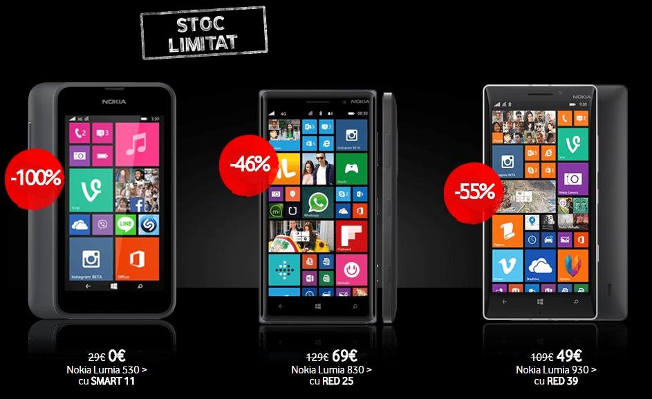 Vodafone dă startul campaniei Black Week; telefoane Windows Phone disponibile cu reducere 100%