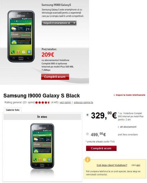 Vodafone umflă prețurile la telefoane Android, pentru a simula reduceri...