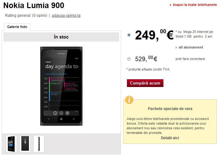 Nokia Lumia 900 Vodafone