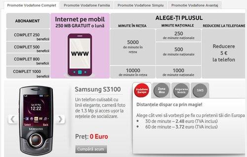 Oferta telefoane Vodafone, de Craciun