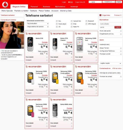 Oferta Vodafone de telefoane pentru sarbatori