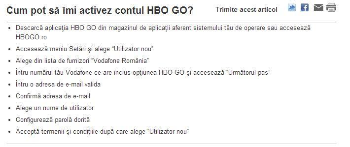 Iată cât ne costă un abonament lunar la serviciul HBO GO prin Vodafone + tutorial de activare