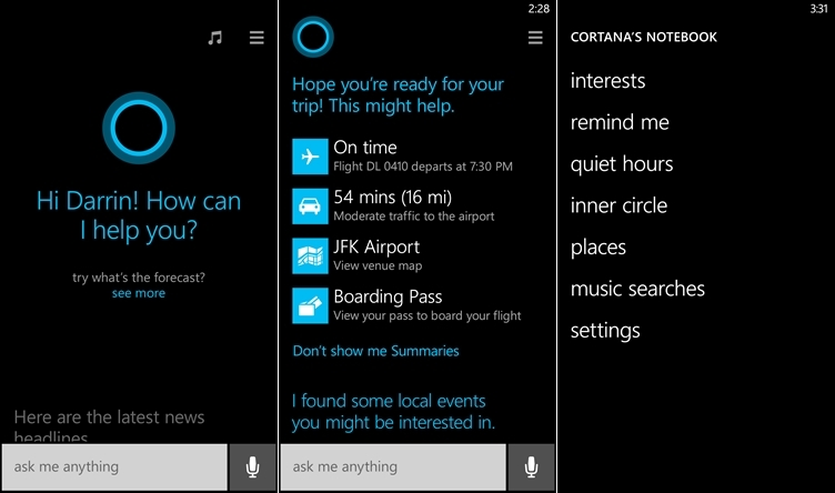 Cortana - asistentul virtual Microsoft