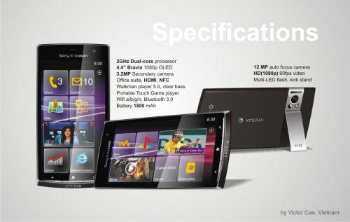 Windows Phone 8 pe un telefon Xperia? Doar concept deocamdată - Sony Ericsson Xperia Leon