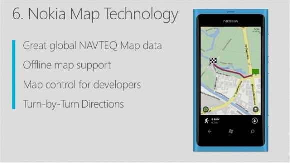 Windows Phone 8 - Nokia Maps integrat