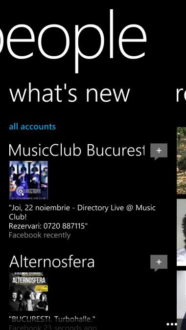 Windows Phone 8 - People Hub