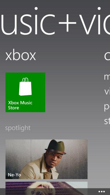 Windows Phone 8 Xbox Music Store