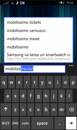 Tastatura Windows Phone 8.1