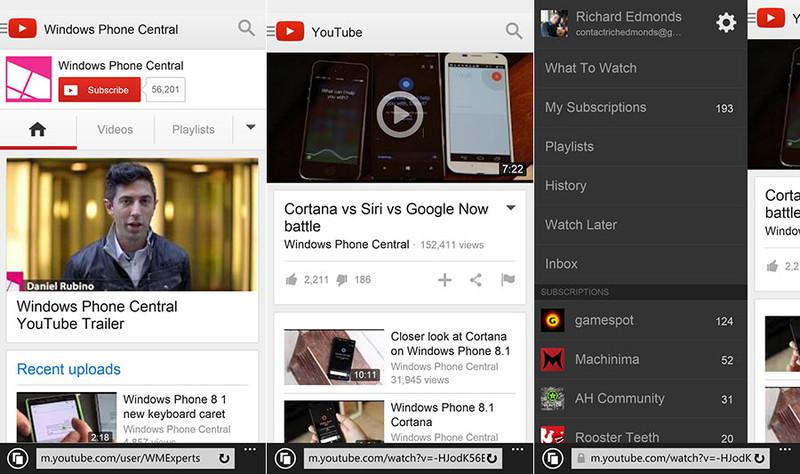 YouTube are o nouă versiune web specială pentru IE11 din Windows Phone 8.1