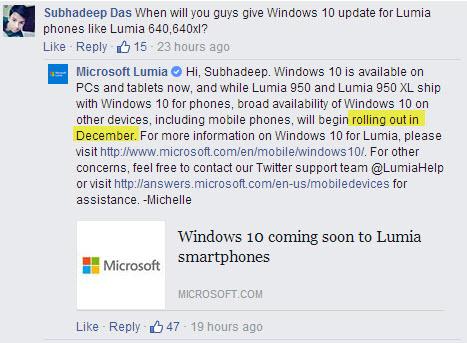Microsoft confirmă sosirea actualizarii la Windows 10 Mobile în luna decembrie