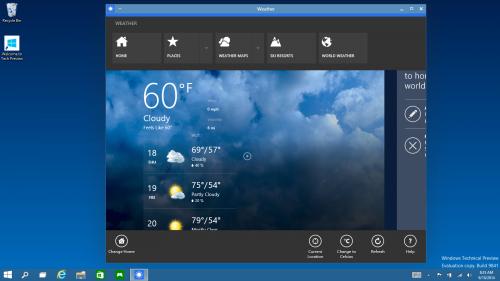 Microsoft publică o serie completă de capturi de ecran din Windows 10