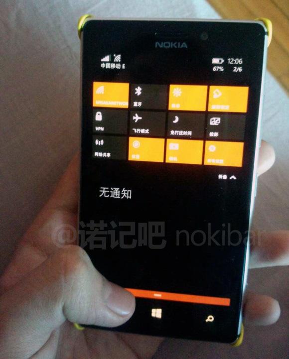 Windows 10 surprins pe Lumia 925, cu tile-uri transparente
