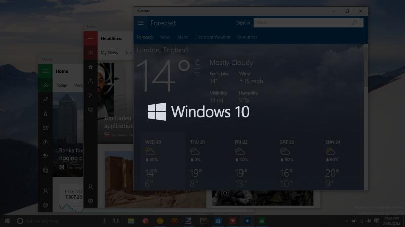 Windows 10 Build 10125 aduce un nou buton Back pe tablete şi noi iconuri