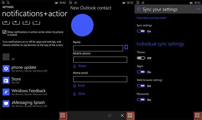 Windows 10 pentru telefoane apare în noi capturi de ecran, include noi iconuri şi un UI împrospătat în zona de setări