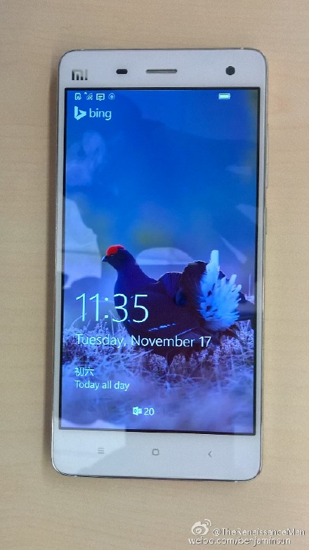 Xiaomi Mi 4 îşi face apariţia cu Windows 10 Mobile la bord, această versiune va sosi de Thanksgiving