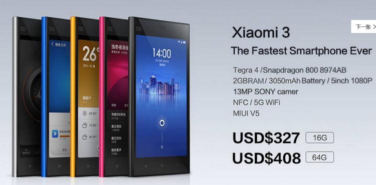 Xiaomi anunţă telefonul MiPhone 3, cu specificaţii de flagship